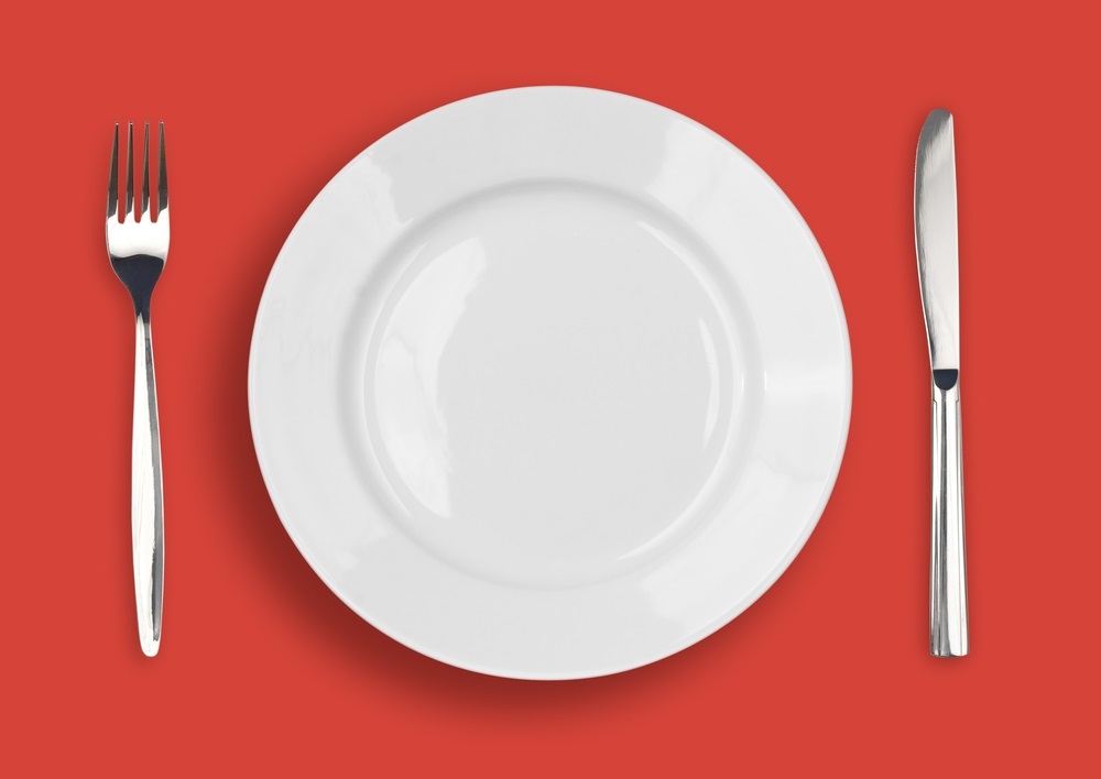 Reduce the size of your plate.