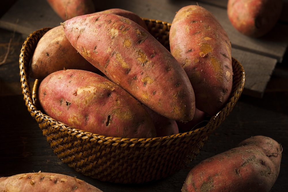 Baked sweet potatoes or yam frites as a post-workout meal or snack. Omit the oil.